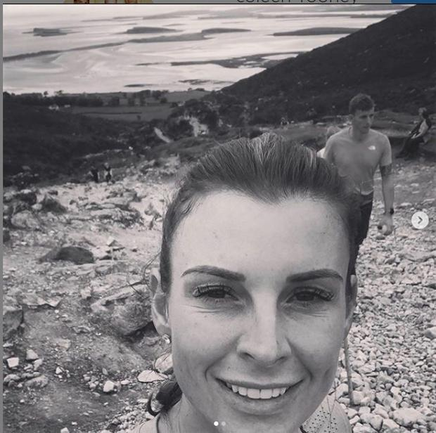 Coleen Rooney climbed Croagh Patrick. Picture: Instagram