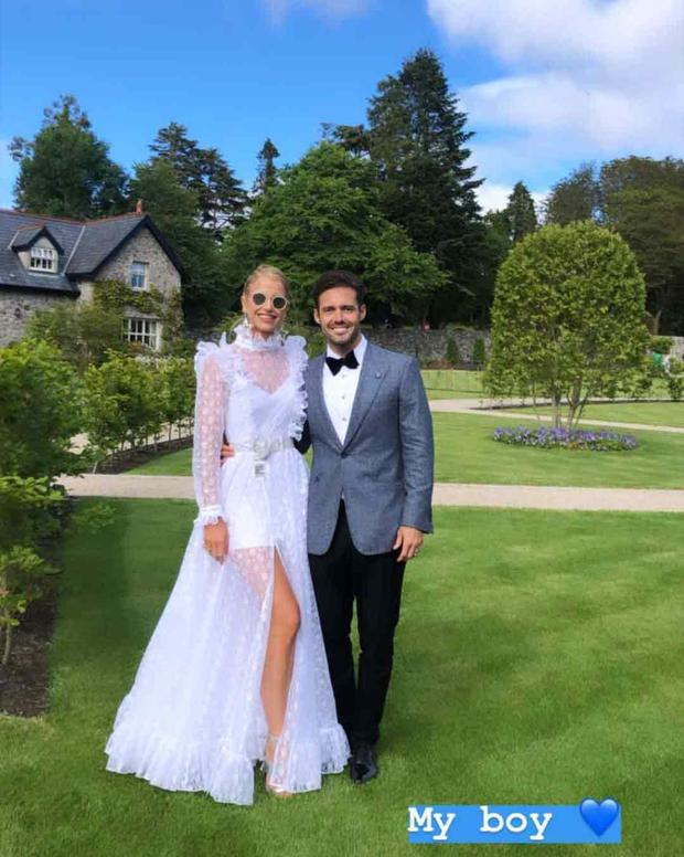 Vogue Williams and Spencer Matthews at their friends' wedding in Ballynahinch