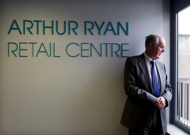 Arthur Ryan at the opening of the Arthur Ryan Retail Centre in DIT in 2012 . Photo: Leon Farrell/ Photocall Ireland.