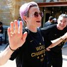 Disrespect: Megan Rapinoe said she would not accept an invitation to meet Donald Trump. Photo: REUTERS/Emmanuel Foudrot