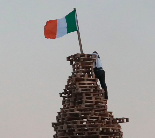 'The burning of Irish Tricolours has become such an integral element in Orange Order and loyalist culture that it does not even warrant comment in much of the media anymore.' Photo: PA Wire