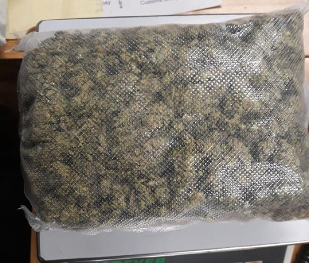 900g of herbal cannabis was seized at the property in Enniscorthy