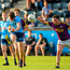 Ross McGarry of Dublin in action against Ciaran Kavanagh of Wexford during the EirGrid Leinster GAA Football U20 Championship semi-final match between Dublin and Wexford at Parnell Park in Dublin. Photo: Eóin Noonan/Sportsfile