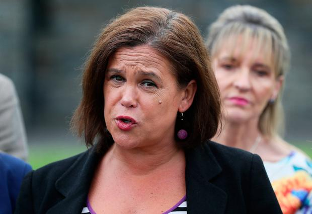 'Sinn Féin leader Mary Lou McDonald said that given the instability in the UK, and the heightened risk of the UK crashing out of the EU on October 31 if Boris Johnson becomes prime minister, it was time to start seriously planning for a Border poll.' Photo: Brian Lawless/PA Wire