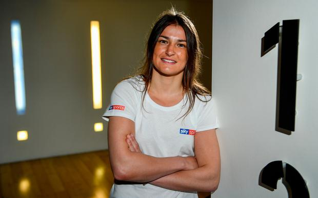 Undisputed World Lightweight Champion Katie Taylor in attendance at an exclusive Sky VIP event at The Lighthouse Cinema, Smithfield in Dublin. Photo: Sam Barnes/Sportsfile