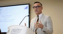 Plight of carers: TV presenter Brendan Courtney at the launch of the report