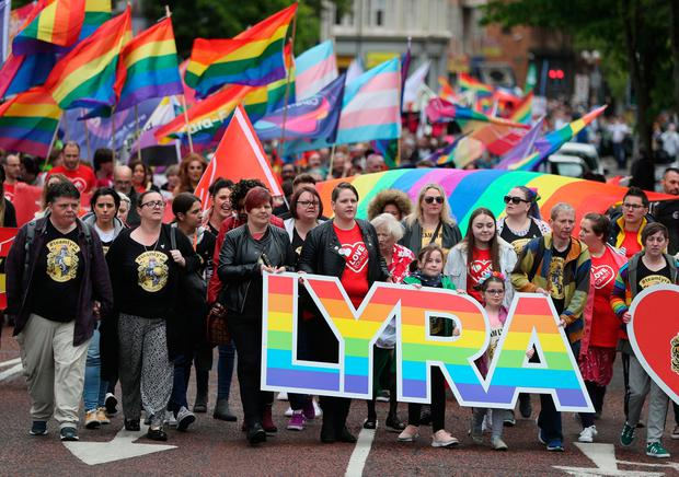 Change: Sara Canning, partner of murdered journalist Lyra McKee, was among the campaigners for equality. Picture: PA