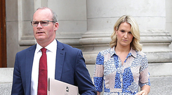 Contingency: Simon Coveney and Helen McEntee. Photo: Damien Eagers