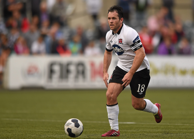 Mark Rossiter in action for Dundalk back in 2014. Photo: Paul Mohan / SPORTSFILE