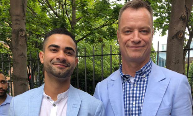 Panti Bliss wed his long-term partner Anderson Cabrera in Dublin today. Picture: Twitter
