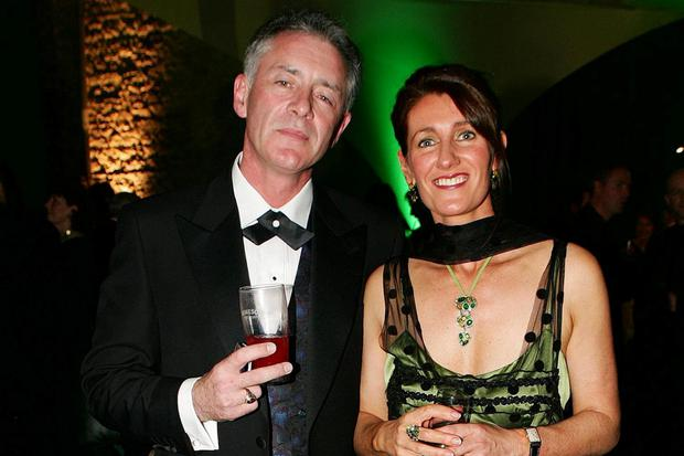 Mark Cagney with his wife Audrey Byrne. Photo: Brian McEvoy