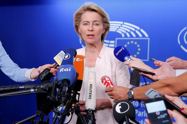 Border is crucial: Ursula von der Leyen, incoming EC president. Photo: REUTERS/Vincent Kessler/File Photo