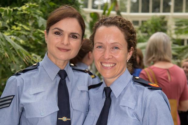 Sgt Laura Dragoi and Insp Annmarie Twomey. Photo: Mark Condren