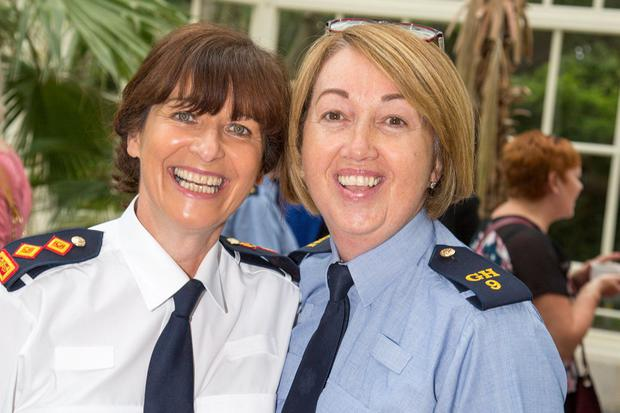 Chief Supt Ann Marie Cagney and Sgt Margareth Flanagan. Photo: Mark Condren