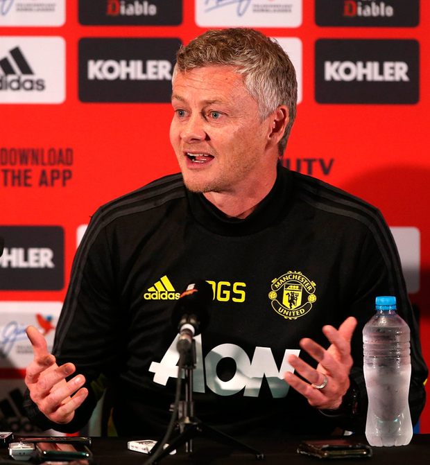 Ole Gunnar Solskjaer, manager of Manchester United addresses the media during a Manchester United Media Opportunity at the WACA on July 10, 2019 in Perth, Australia. Photo: Paul Kane/Getty Images