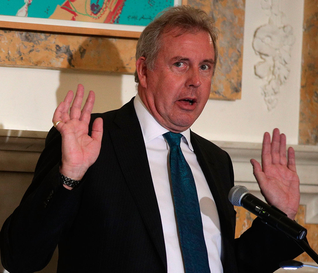 Fall guy: Kim Darroch has resigned his position in Washington. Photo: Alex Wong/Getty Images