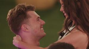 Curtis Pritchard and Maura Higgins during the heart race challenge on Love Island