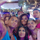 The Love Island contestants take a selfie. PIC: ITV