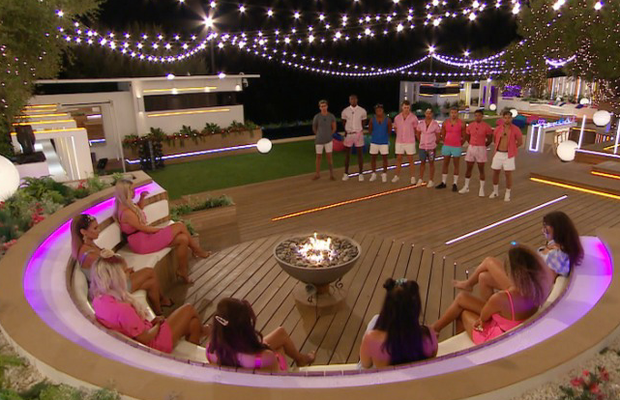 The girls choose the boys with whom they want to recouple on Love Island. PIC: ITV