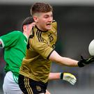 Brian Friel of Kerry in action against Brian Fole of Limerick during the EirGrid GAA Football Under 20 Munster Championship Semi-Final match between Kerry and Limerick at Austin Stack Park in Tralee, Kerry. Photo by Brendan Moran/Sportsfile