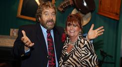 Full of laughter: Brendan Grace and his wife Eileen in 2013. Photo: Arthur Carron/Collins