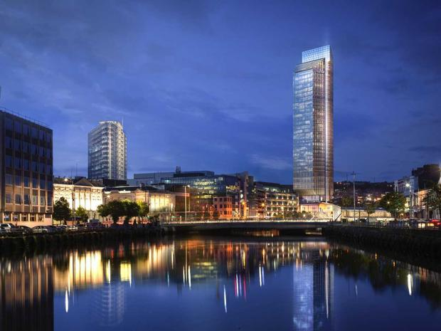 A €200m redevelopment of one of Cork's oldest dockland areas will involve the construction of Ireland's tallest building