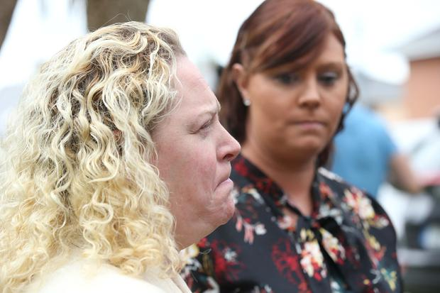 Antoinette's two daughters, Lisa and Rachel in attendance at media briefing. Photo: Stephen Collins/Collins Photos