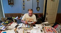 Gordon A. Giese, 66, a dairy and corn farmer starts his day off by taking care of the paperwork and phone calls before heading out to tend to his farm God Green Acres in Mayville, Wisconsin, U.S., June 24, 2019. Picture taken June 24, 2019. REUTERS/Darren Hauck
