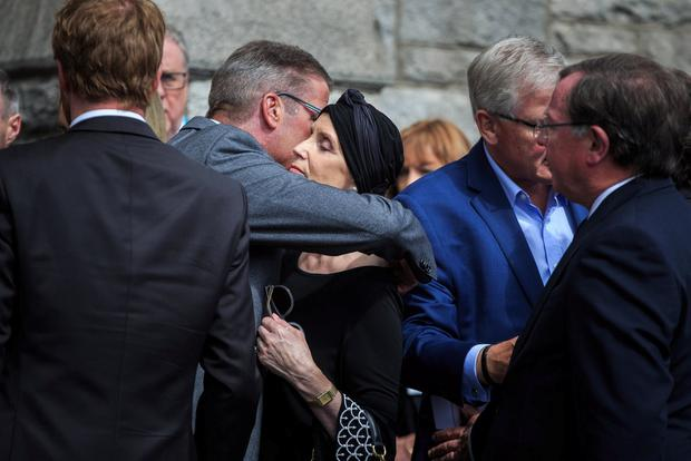 Alma Carroll-Ryan at the funeral mass of her husband Arthur Ryan at the Church of the Sacred Heart, Donnybrook. Pic:Mark Condren 13.7.2019
