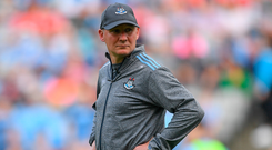 Dublin manager Jim Gavin is pictured during the All-Ireland SFC Super 8s Group 2 clash at Croke Park in Dublin. Photo: Eóin Noonan/Sportsfile