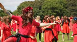 Over 100 Kate Bush fanatics re-enactment the singer's iconic 'Wuthering Heights' video