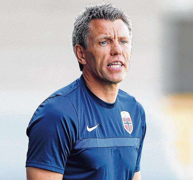 Former Oldham Athletic and Leeds United player Gunnar Halle is enjoying his stint as Norway's Under-19s manager. Photo: Nigel French/EMPICS/PA Images via Getty Images