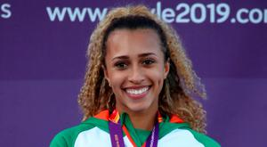 Ireland's Nadia Power after winning bronze in the final of the womens 800m event during day three of the European U23 Athletics Championships at the Gunder Hägg Stadium in Gävle, Sweden. Photo: Giancarlo Colombo/Sportsfile