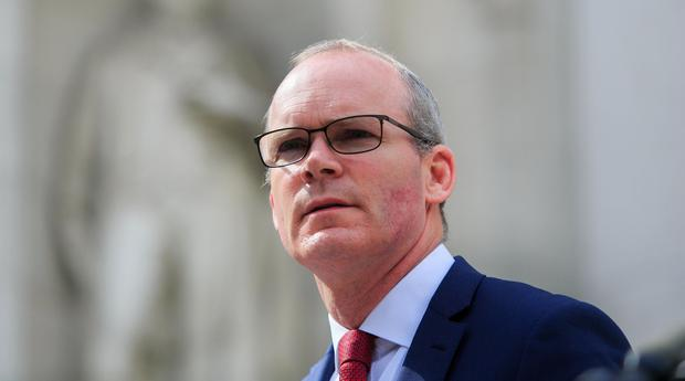 Ready or not: Tánaiste Simon Coveney announcing Government plans to ramp up preparations for a no-deal Brexit last week. Photo: Gareth Chaney, Collins