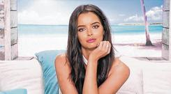 Feeling the heat: Maura Higgins from Co Longford has appeared on this year's 'Love Island'