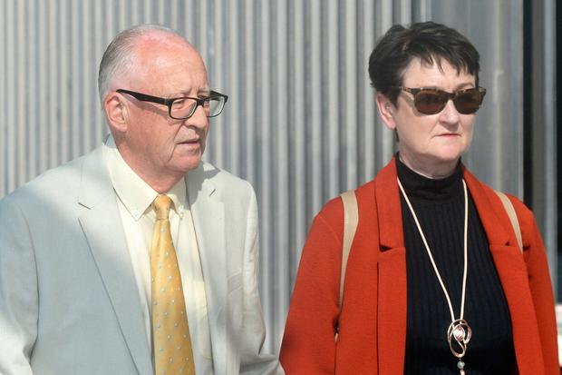 Patric and Geraldine Kriegel, the parents of murdered Ana Kriegel, arrive at the Criminal Courts of Justice in Dublin. Photo: Justin Farrelly/PA Wire