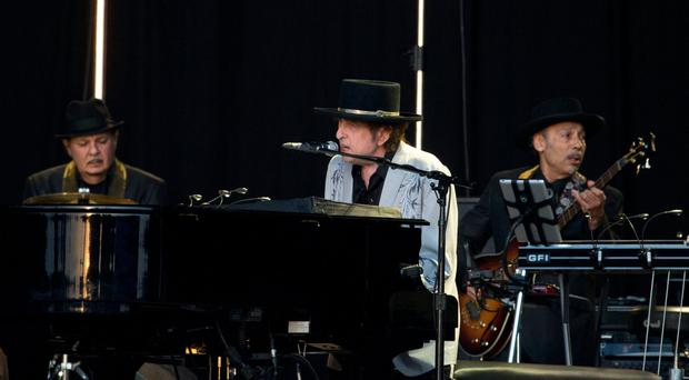 Bob Dylan performs during a gig in London last week. Photo: Isabel Infantes/PA Wire