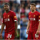 Adam Lewis (left), Rhian Brewster (centre) and Bobby Duncan (right) all featured in Liverpool's first pre-season friendly against Tranmere.