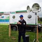 Advice: Dr Stan Lalor addresses the Lakeland Agri grassland farm walk in Monaghan
