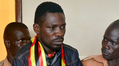 Bobi Wine is to challenge the president in 2021. Photo: AP Photo
