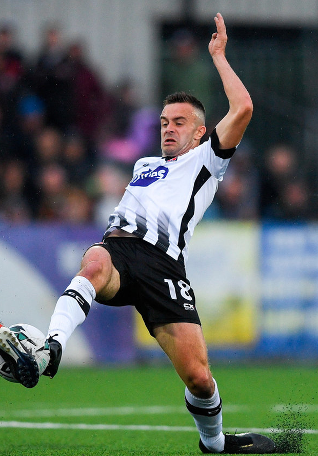 Dundalk's Robbie Benson made a visible impact when he came on in the second half against Riga. Photo: Eóin Noonan/Sportsfile