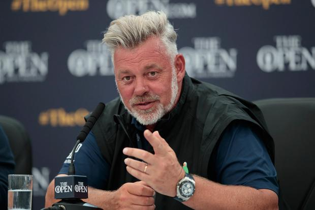 Darren Clarke is looking forward to seeing how the best players in the world tackle the challenge of the Dunluce Links this week. Photo: AP Photo/Jon Super