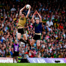 High octane: David Moran in action against Fionn McDonagh. Photo: Sportsfile