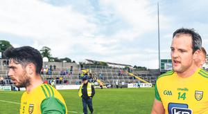 Ryan McHugh (left) and Michael Murphy, two Donegal players with vastly different physical dimensions, create all sorts of problems for opposing teams. Photo: Sportsfile