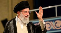 Iranian leader Ayatollah Ali Khamenei accused the UK of piracy. Photo: AFP/Getty Images
