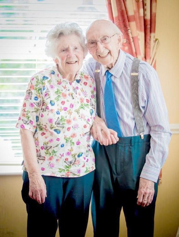 Golden years: Ronnie Patterson and Jean Cobban married in 1954