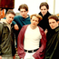 Early days: Michael Garrett (back right) when he was in IOU with (left-right) Graham Keighron and the boys who became Westlife superstars – Mark Feehily, Kian Egan and Shane Filan. Photo: GreenGraph