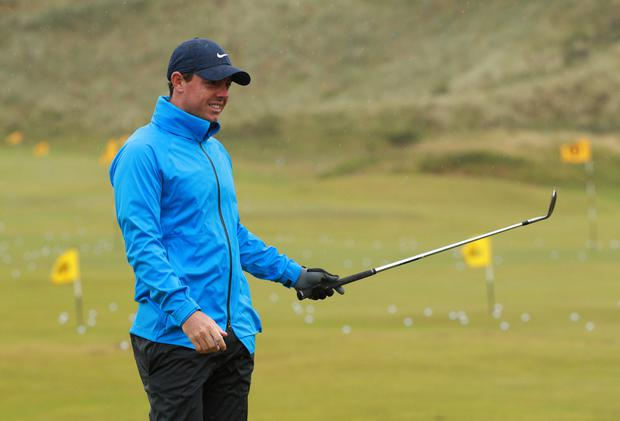 Rory McIlroy is pictured during a practice round at the The 148th Open Championship at Royal Portrush Golf Club, County Antrim. Photo: REUTERS/Ian Walton