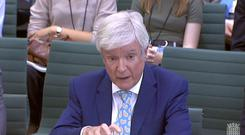BBC director general Lord Hall giving evidence to the House of Commons Digital, Culture, Media and Sport Committee (House of Commons/PA)