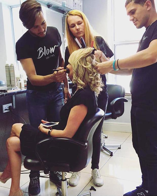 Treatments: Blow salon founder Noelle McCarthy gets pampered by one of her beauty teams